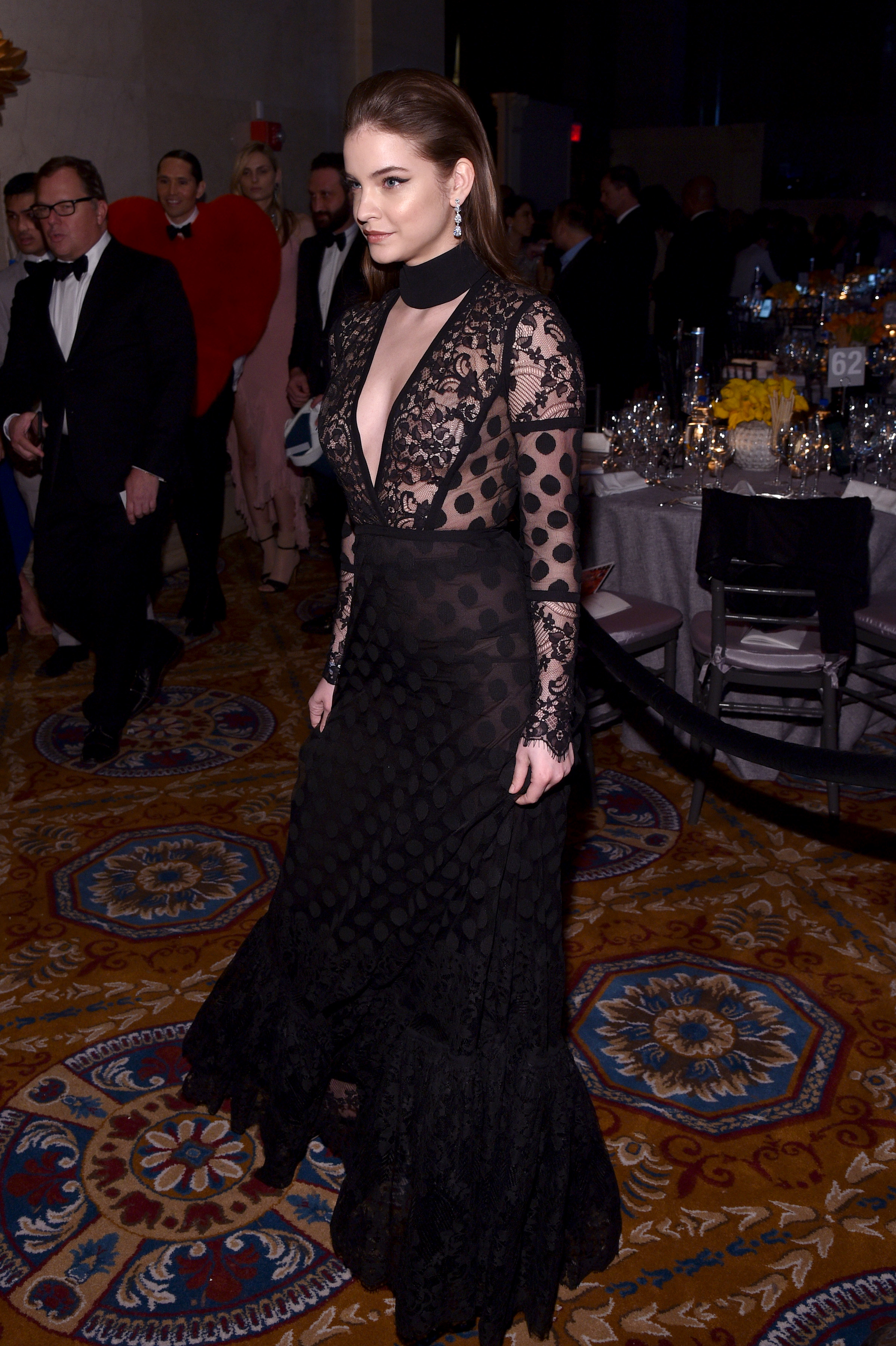 NEW YORK, NY - FEBRUARY 08:  Model Barbara Palvin attends as Moet & Chandon Toasts to the amfAR New York Gala At Cipriani Wall Street at Cipriani Wall Street on February 8, 2017 in New York City.  (Photo by Bryan Bedder/Getty Images for Moet & Chandon)