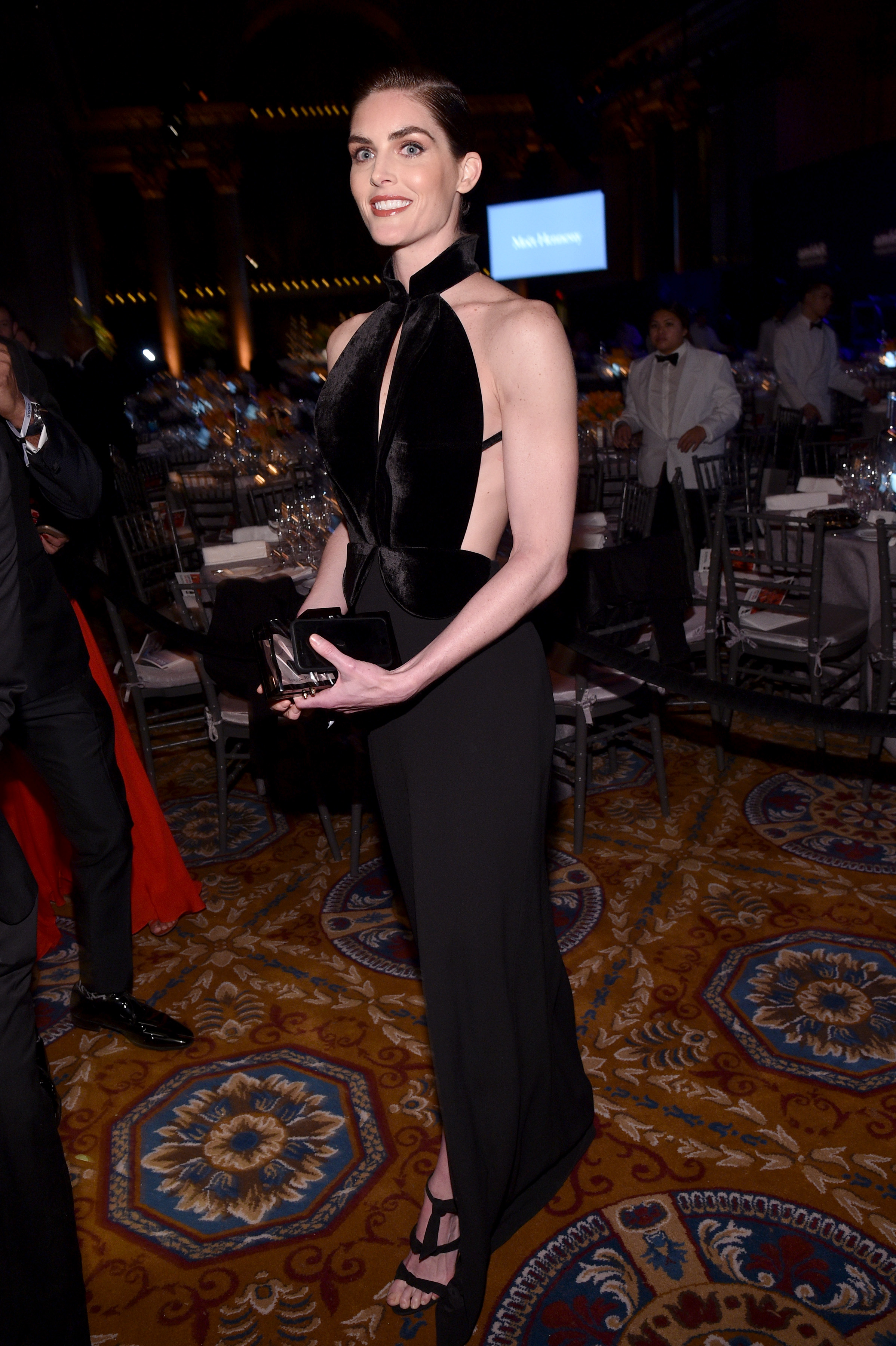 NEW YORK, NY - FEBRUARY 08:  Model Hilary Rhoda attends as Moet & Chandon Toasts to the amfAR New York Gala At Cipriani Wall Street at Cipriani Wall Street on February 8, 2017 in New York City.  (Photo by Bryan Bedder/Getty Images for Moet & Chandon)