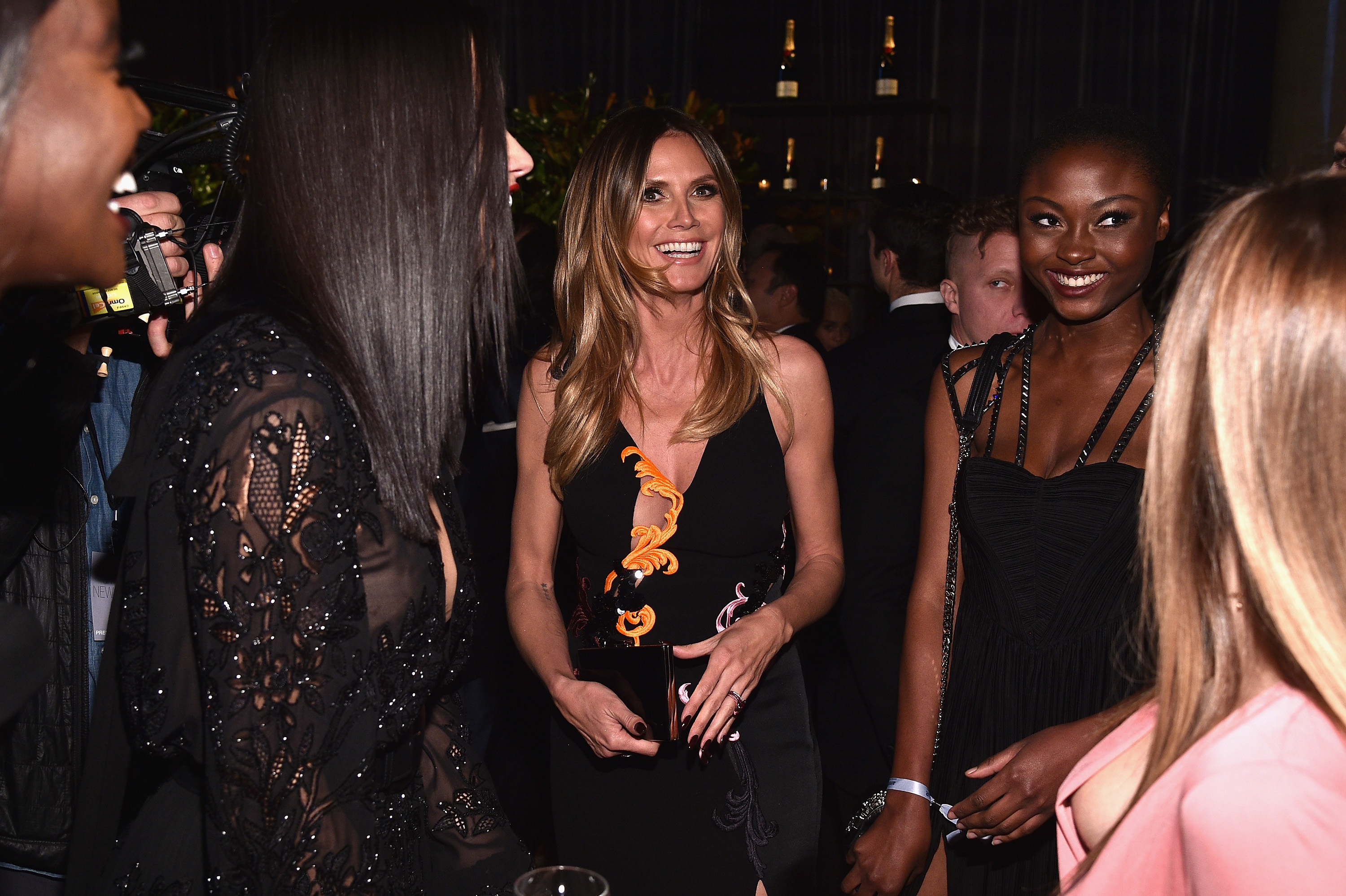 NEW YORK, NY - FEBRUARY 08:  Model Heidi Klum attends as Moet & Chandon Toasts to the amfAR New York Gala At Cipriani Wall Street at Cipriani Wall Street on February 8, 2017 in New York City.  (Photo by Bryan Bedder/Getty Images for Moet & Chandon)