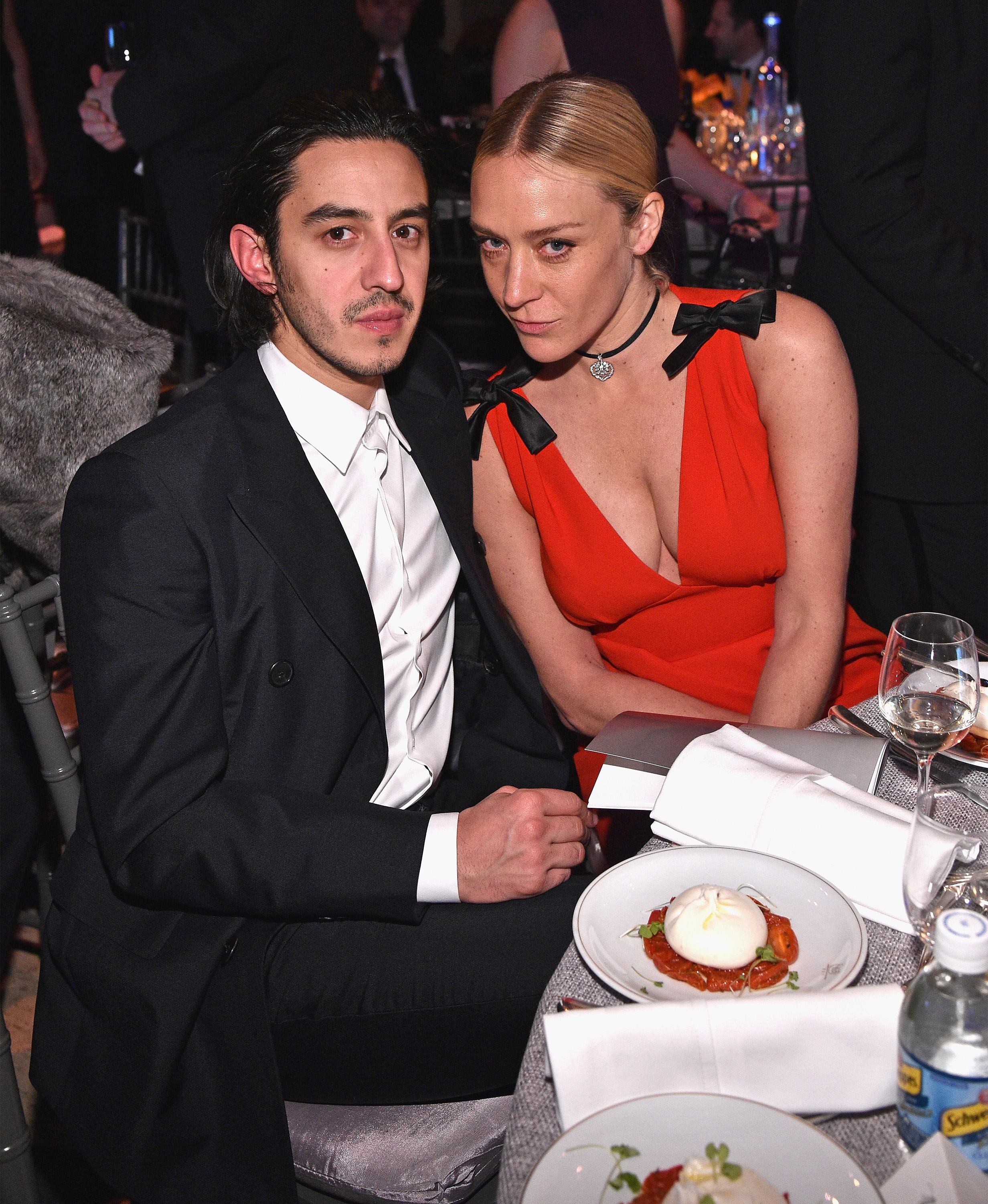 NEW YORK, NY - FEBRUARY 08: Ricky Saiz and Chloe Sevigny attends as Moet & Chandon Toasts to the amfAR New York Gala At Cipriani Wall Street at Cipriani Wall Street on February 8, 2017 in New York City.  (Photo by Bryan Bedder/Getty Images for Moet & Chandon)