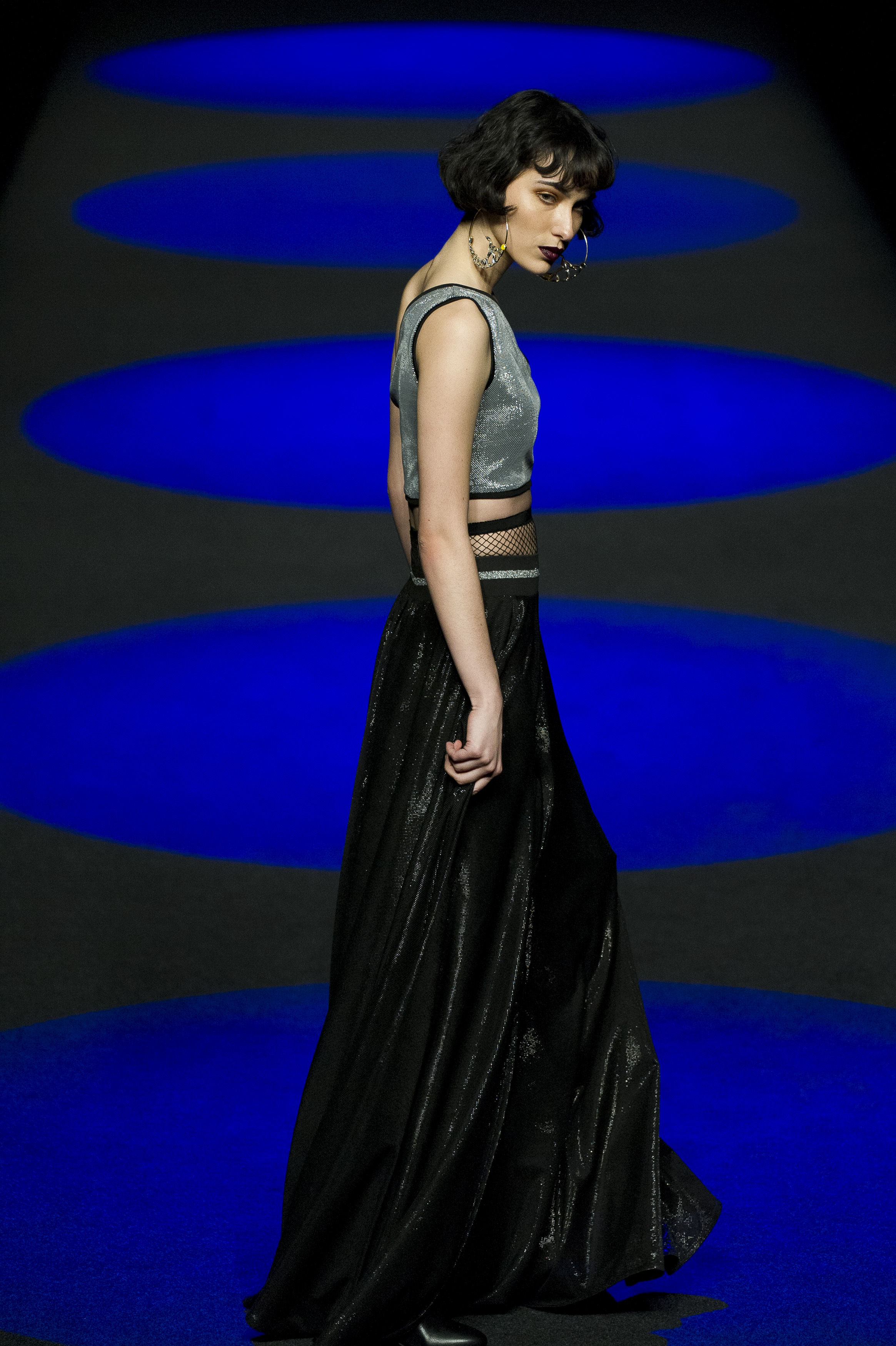MADRID, SPAIN - FEBRUARY 20: A model walks the runway at the Esther Noriega show during Mercedes-Benz Madrid Fashion Week Autumn/Winter 2017/2018 at IFEMA on February 20, 2017 in Madrid, Spain. (Photo by Juan Naharro Gimenez / Getty Images for Esther Noriega)