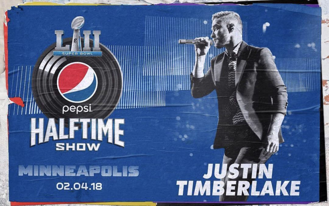 JUSTIN TIMBERLAKE TO HEADLINE  PEPSI SUPER BOWL LII HALFTIME SHOW   FEBRUARY 4 ON NBC