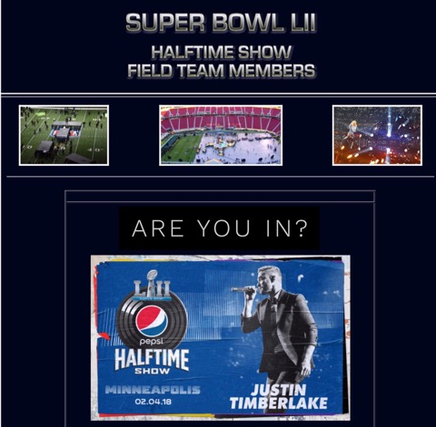 SUPER BOWL LII FIELD TEAM MEMBERS APPLICATION