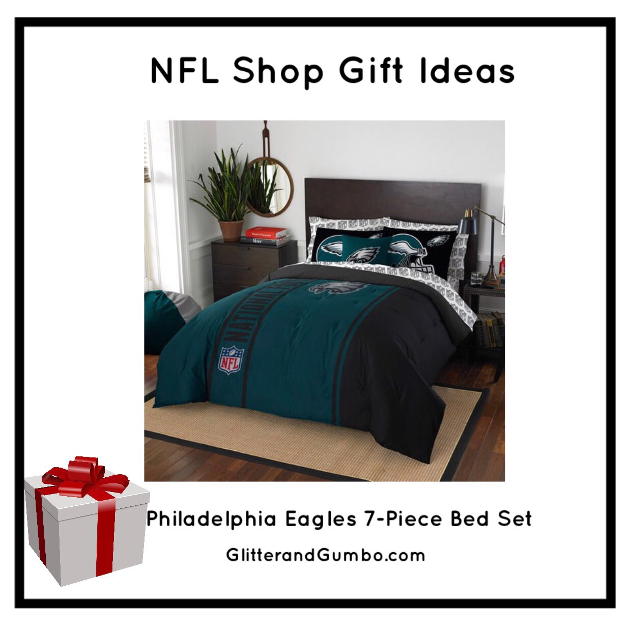 Philadelphia Eagles 7 Piece Bed Set. THE NFL SHOP S CYBER MONDAY SALE   Welcome To Glitter   Gumbo