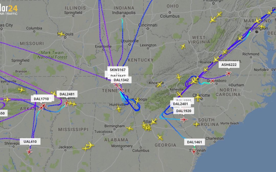 THE HARTSFIELD-JACKSON ATLANTA INTERNATIONAL AIRPORT SUFFERS A  POWER OUTAGE AND FLIGHTS ARE CANCELLED