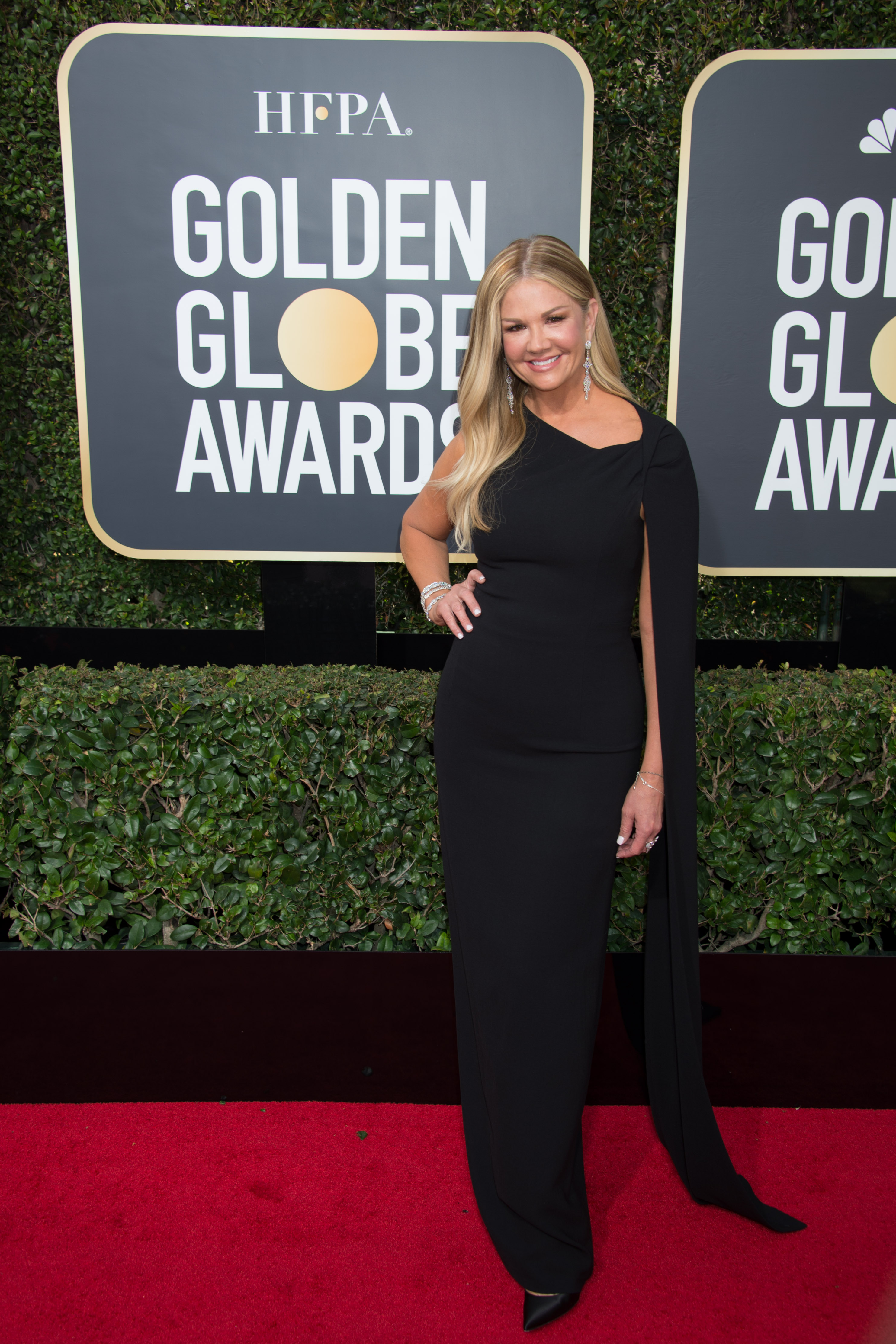 Nancy O'Dell arrives at the 75th Annual Golden Globe Awards at the Beverly Hilton in Beverly Hills, CA on Sunday, January 7, 2018.