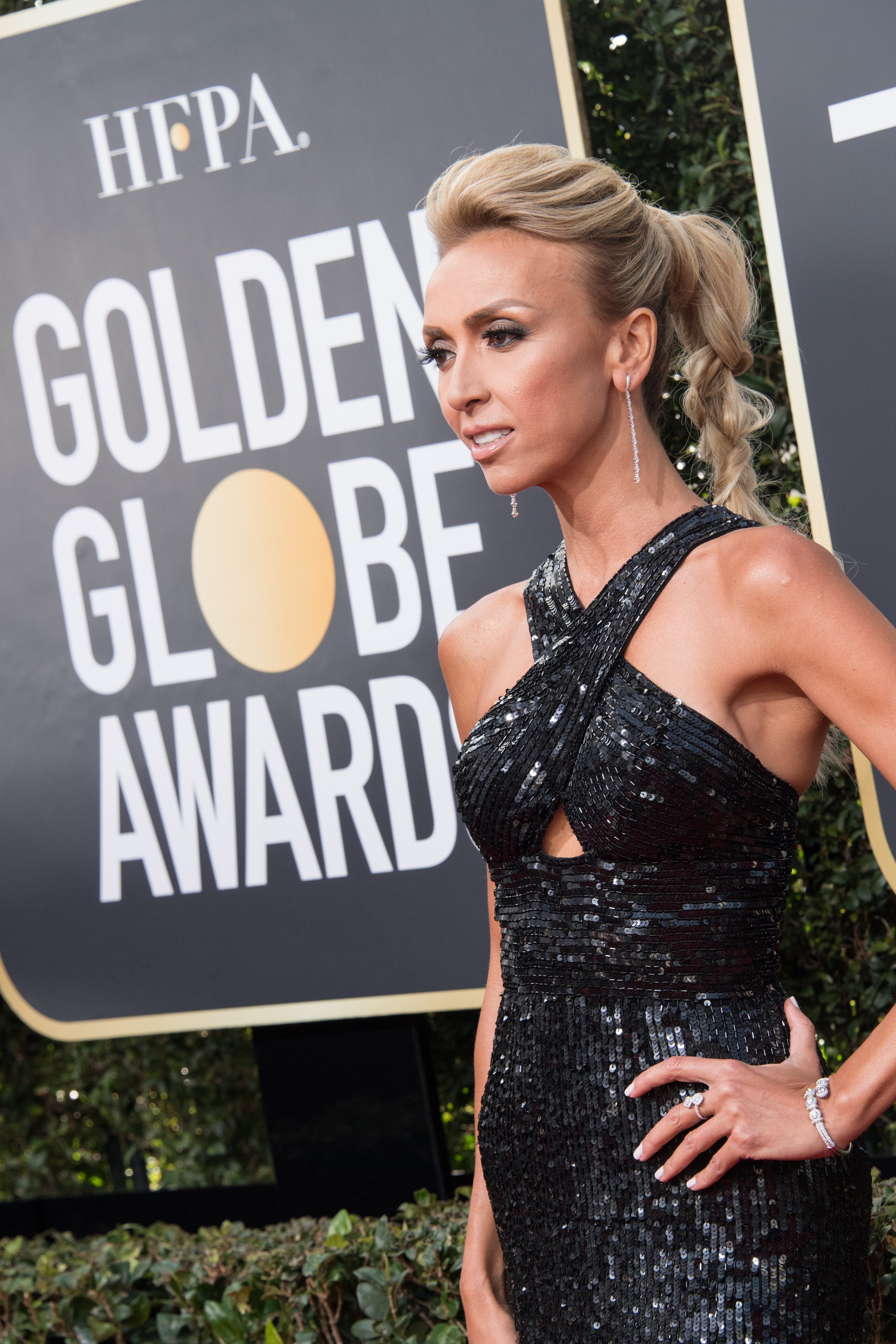Giuliana Rancic arrives at the 75th Annual Golden Globe Awards at the Beverly Hilton in Beverly Hills, CA on Sunday, January 7, 2018.