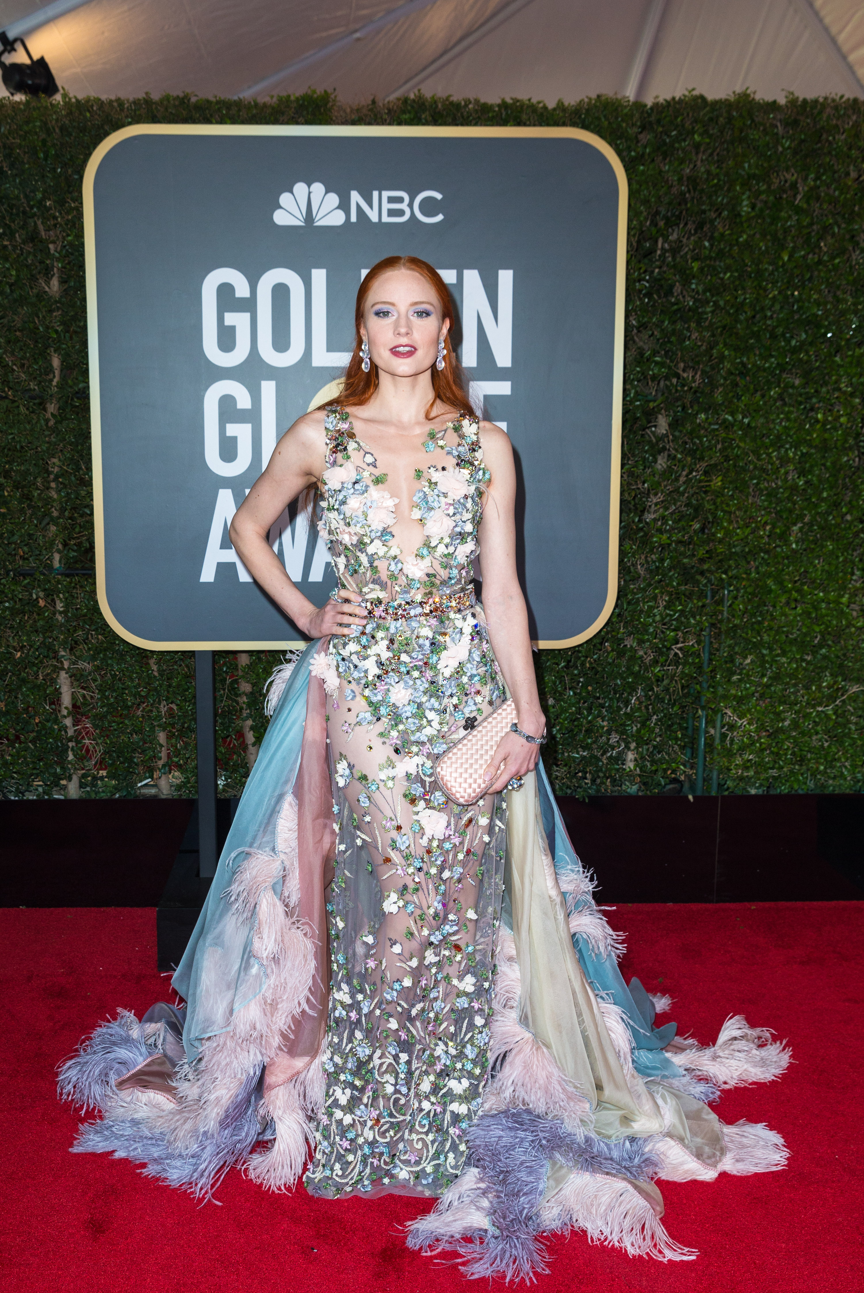 Model Barbara Meier attends the 75th Annual Golden Globes Awards at the Beverly Hilton in Beverly Hills, CA on Sunday, January 7, 2018.
