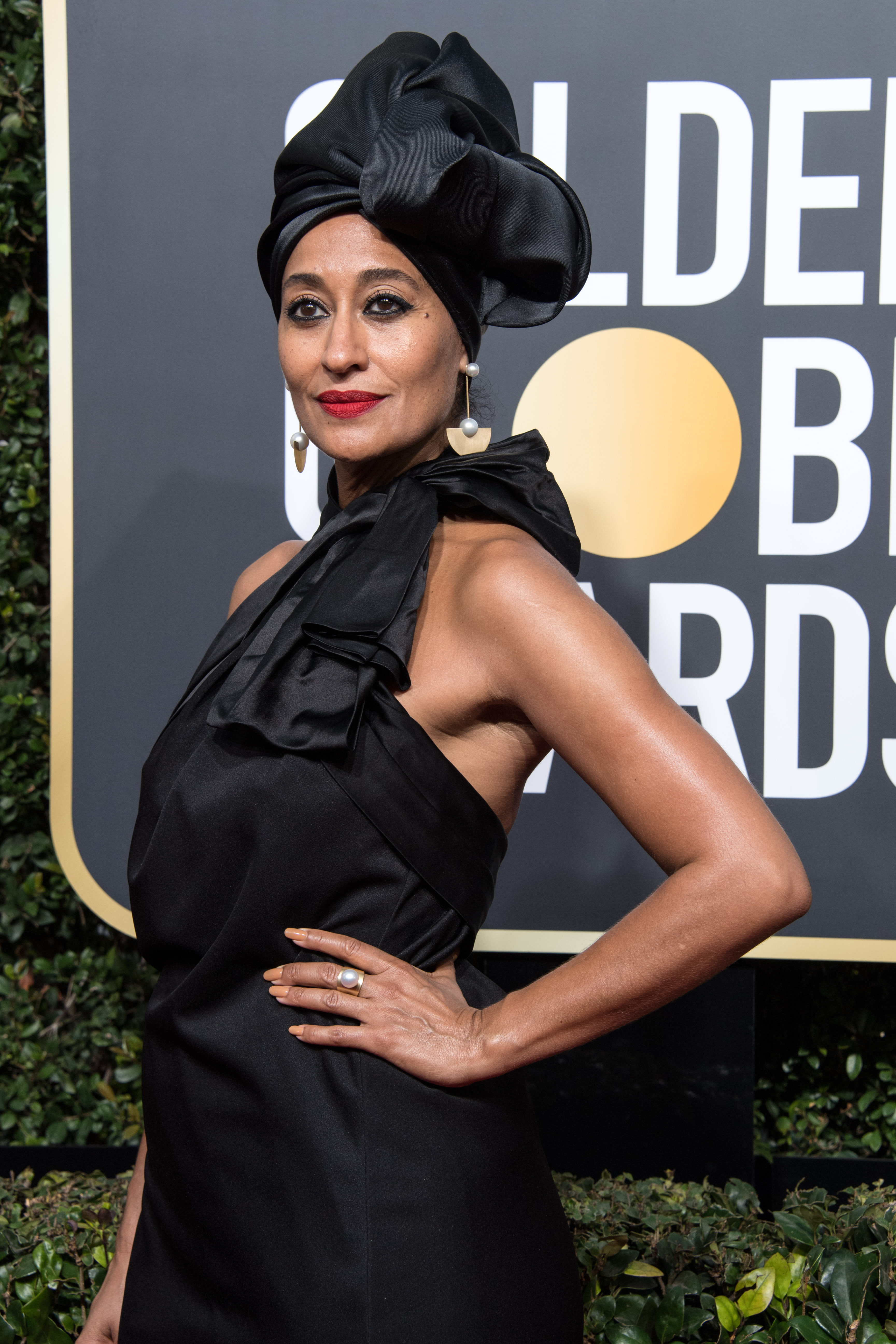 Tracee Ellis Ross arrives at the 75th Annual Golden Globe Awards at the Beverly Hilton in Beverly Hills, CA on Sunday, January 7, 2018.