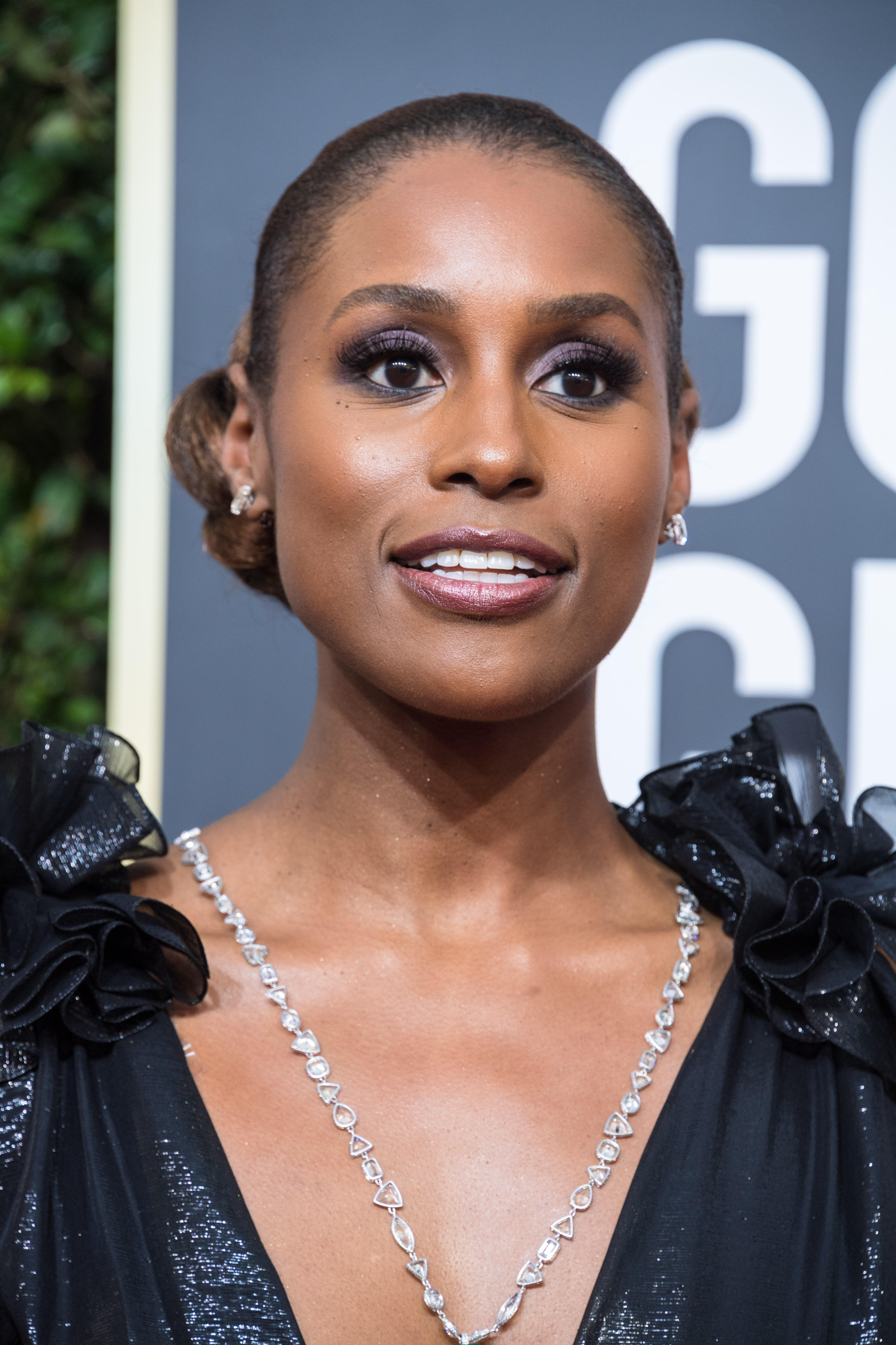 "Nominated for BEST PERFORMANCE BY AN ACTRESS IN A TELEVISION SERIES – COMEDY OR MUSICAL for her role in ""Insecure,"" actress Issa Rae attends the 75th Annual Golden Globes Awards at the Beverly Hilton in Beverly Hills, CA on Sunday, January 7, 2018."