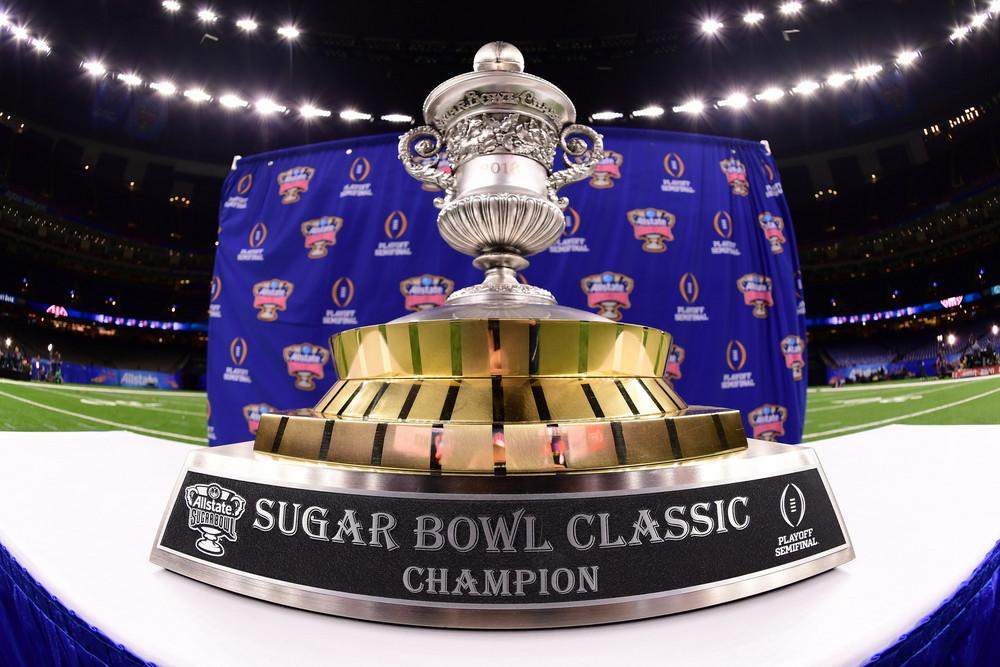 New Orleans, LA - December 30, 2017 Mercedes-Benz Superdome - The 2018 Sugar Bowl trophy. .(Photo by Phil Ellsworth / ESPN Images)