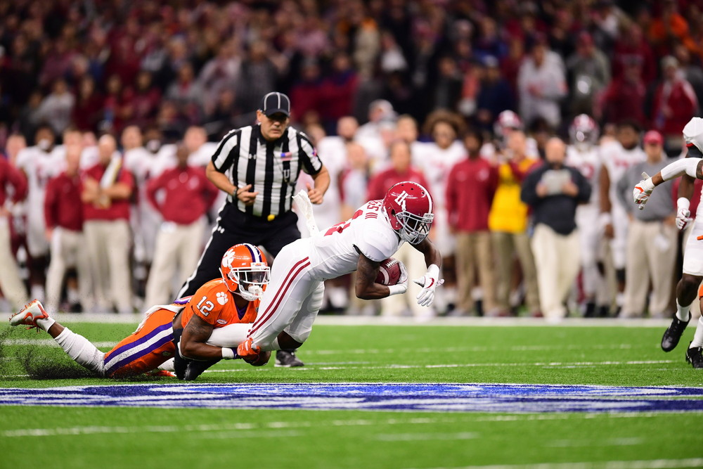 New Orleans, LA - January 1, 2018 - Mercedes-Benz Superdome: Henry Ruggs III (11) of the University of Alabama Crimson Tide during the 2017 Sugar Bowl game (Photo by Phil Ellsworth / ESPN Images)