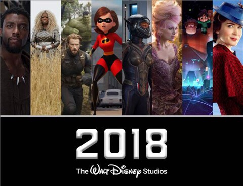 THE YEAR OF DISNEY:  WALT DISNEY STUDIOS MOTION PICTURES 2018 RELEASE SCHEDULE