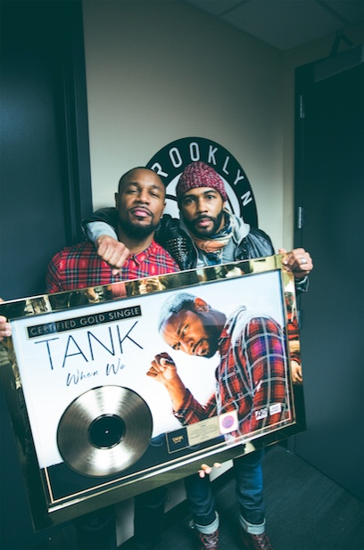"""R&B SUPERSTAR TANK HIT SINGLE """"WHEN WE"""" OFFICIALLY  RIAA CERTIFIED GOLD"""